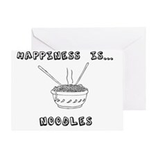 Happiness is noodles Greeting Card