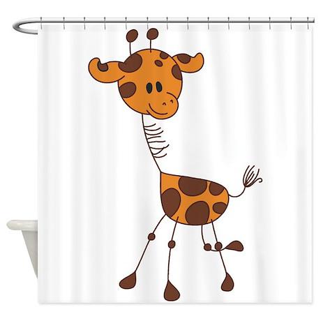 Cartoon Giraffe Shower Curtain By Artyart2
