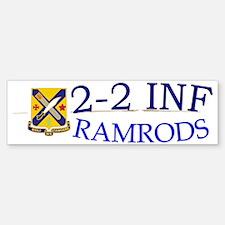 2nd Bn 2nd Infantry cap1 Bumper Bumper Sticker