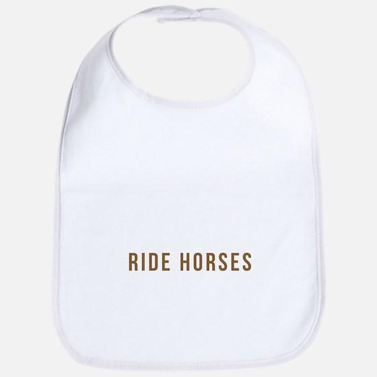 Real Grandmas Ride Horses T Shirt Baby Bib