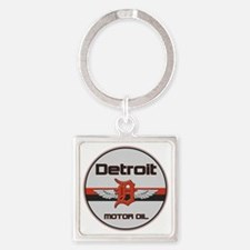 Detroit Motor Oil copy Square Keychain