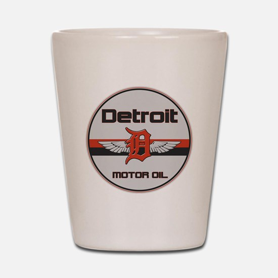 Detroit Motor Oil copy Shot Glass