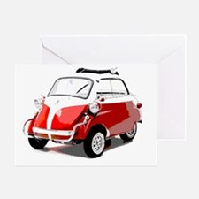 Isetta Red copy Greeting Card