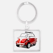 Isetta Red copy Landscape Keychain