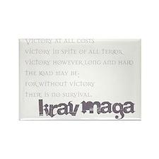 KravMaga - Victory  Survival Rectangle Magnet