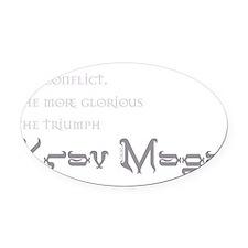 Krav Maga - Triumph Oval Car Magnet