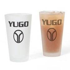Yugo4 copy Drinking Glass