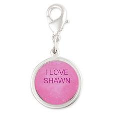 HEART SHAWN Silver Round Charm