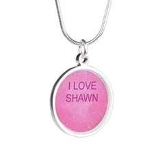 HEART SHAWN Silver Round Necklace