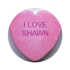 HEART SHAWN Round Ornament