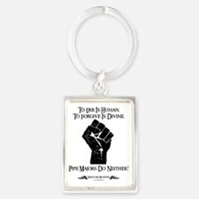 To Err Is Human, To Forgive Is D Portrait Keychain