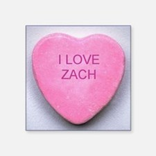 "HEART ZACH Square Sticker 3"" x 3"""