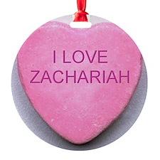 HEART ZACHARIAH Round Ornament