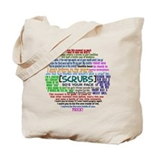 scrubscollagebutton Tote Bag