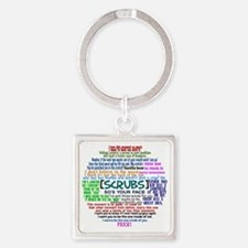 scrubscollagebutton Square Keychain