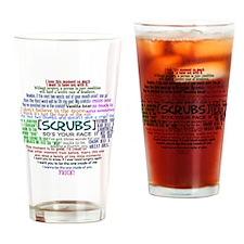 scrubscollagebutton Drinking Glass
