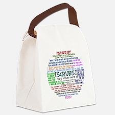 scrubscollagebutton Canvas Lunch Bag
