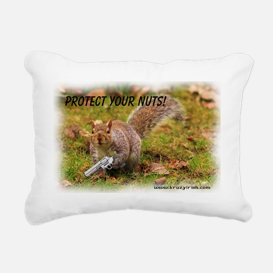 Protect Your Nuts 4000-4 Rectangular Canvas Pillow