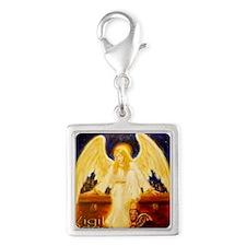 VIGIL angel LorAnge CP2x2 Silver Square Charm