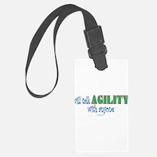 Cute Sheltie agility Luggage Tag