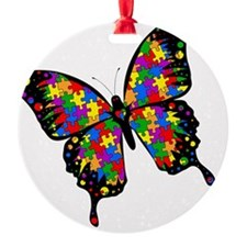 autismbutterfly-rotated Ornament