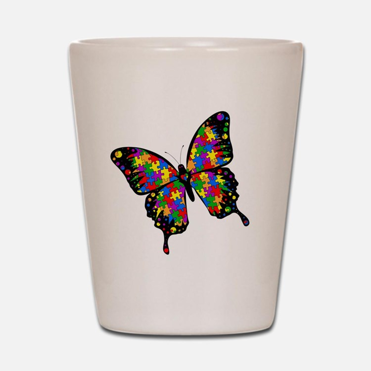 autismbutterfly-rotated Shot Glass