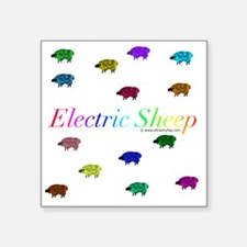 "Electric Sheep Square Sticker 3"" x 3"""