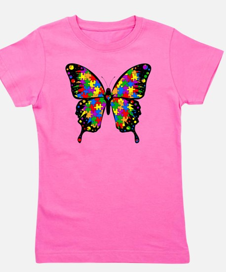 autismbutterfly6inch Girl's Tee