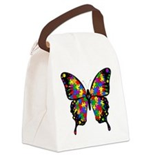 autismbutterfly6inch Canvas Lunch Bag