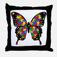 autismbutterfly6inch Throw Pillow