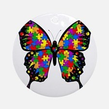 autismbutterfly6inch Round Ornament
