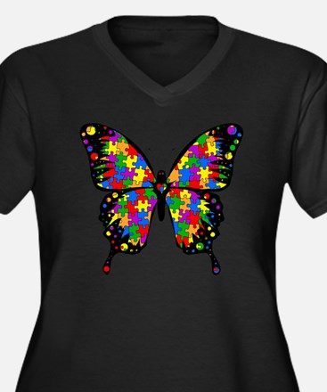 autismbutter Women's Plus Size Dark V-Neck T-Shirt