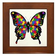 autismbutterfly6inch Framed Tile