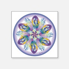 "Xmas flower copy Square Sticker 3"" x 3"""