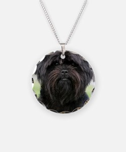 Affenpinscher 9Y516D-049 Necklace Circle Charm