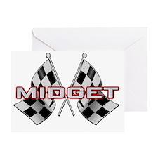 Midget Racing Greeting Card