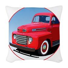 1948-50 F-1-C10trans Woven Throw Pillow