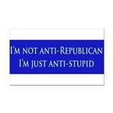 "Anti republican 3"" x 5"""