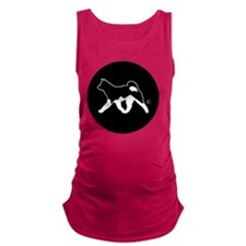 Rakki-Inu Akita Rescue (embroid Maternity Tank Top