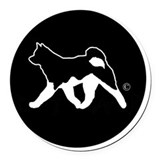 Akita Round Car Magnets