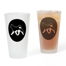 Rakki-Inu Akita Rescue (embroidery) Drinking Glass