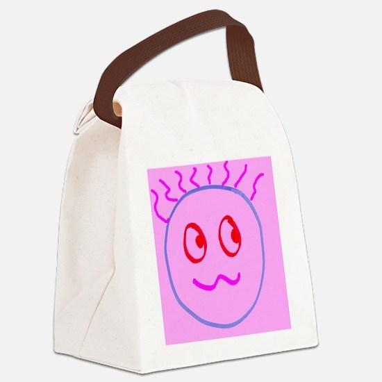 Pink Cute Goofball Gee Designer Canvas Lunch Bag