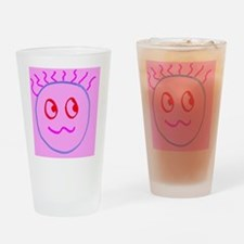 Pink Cute Goofball Gee Designer Drinking Glass