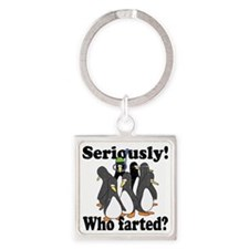 serilusly-who-farted-yellow.gif Square Keychain