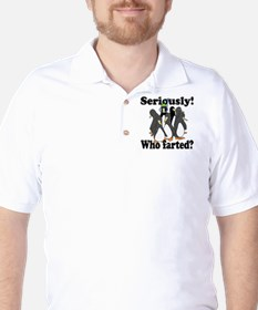 serilusly-who-farted-yellow.gif T-Shirt