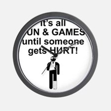 Its all fun and games Wall Clock