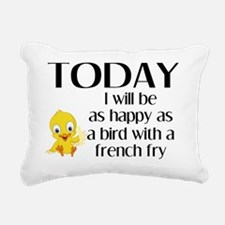 happy_bird_10x10 Rectangular Canvas Pillow