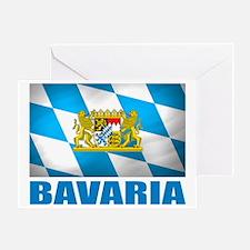 Bavaria Flag  COA Greeting Card