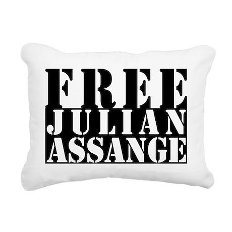 free julian assange Rectangular Canvas Pillow
