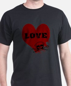 love_skull_dark T-Shirt